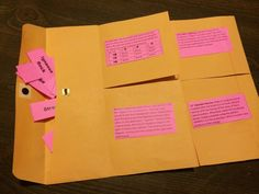 Vocabulary Envelope Foldable...Whew what a mouthful!