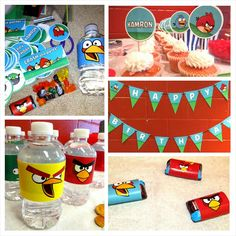 Angry Birds Complete Personalized Birthday by LittleMsShutterbug, $20.00