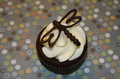 Chocolate Cupcakes - Chocolate cupcakes, with cream cheese frosting and chocolate dragonfly decoration.