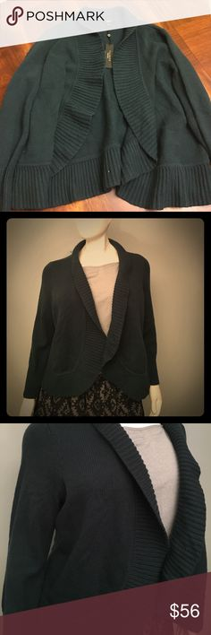 NWT Talbots Hunter Green Cardigan Thick and warm. First picture shows true color. (B5) Talbots Sweaters Cardigans