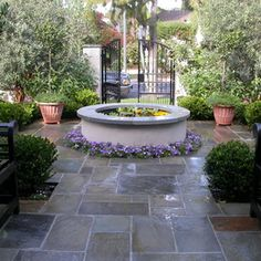 Backyard Floor Ideas classic brown wooden backyard fence combined with l shaped white upholtery sofa and chairs over Garden Design With Patio Flooring Ideas On Pinterest Slate Patio Stone Patios And With Landscaping