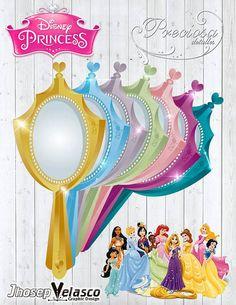 Invitación Espejo Princesas Disney Imprimible - Invitation Mirror Princess Disney Printable