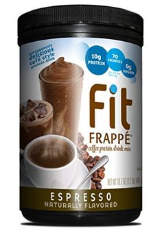 Fit Frappe Protein Drink Mix, Espresso, 19.1 Ounce ** Read more info by clicking the link on the image. #CoffeeDrinks