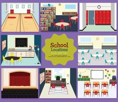 Walk through a school and you would be sure to see some of these common areas…