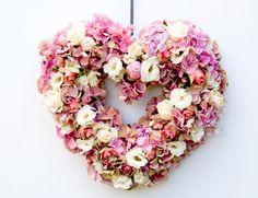 flower heart wreath...