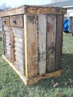 How To Build a Beautiful Rustic Pallet Cabinet - Construction. By ...