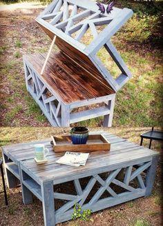 Diy Garden Furniture, Diy Outdoor Furniture, Diy Furniture Projects, Diy Wood Projects, Pallet Furniture, Furniture Plans, Furniture Decor, Outdoor Decor, Modern Furniture