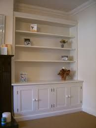 solid wood white bookcase by eccabinets Alcove Cabinets, Base Cabinets, Wine Storage, Built In Storage, Built In Bookcase, Bookshelves, Fitted Cabinets, Long Shelf, Low Cabinet