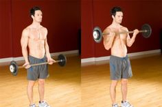 barbell bicep curl : biceps exercise