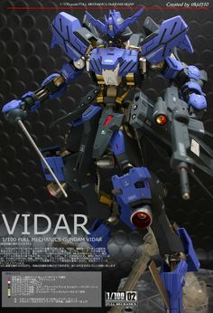 Custom Build: Full Mechanics 1/100 Gundam Vidar [Detailed] - Gundam Kits Collection News and Reviews Custom Paint Jobs, Custom Decals, Gundam Vidar, Gundam Iron Blooded Orphans, Gundam Custom Build, Gundam Seed, Mecha Anime, Mechanical Design, Gundam Model
