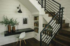 The Barndominium | Season 3 | Fixer Upper | Magnolia Market | Under staircase bookshelf | Unexpected Ideas | Chip & Joanna Gaines | Waco, TX