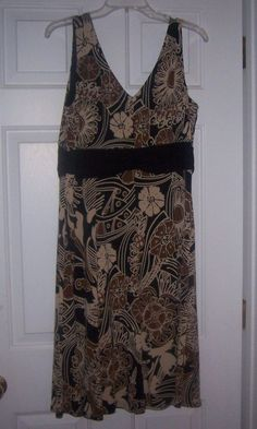 Madison Leigh Women's Sundress Casual 16 Multi-Color Sleeveless Floral Polyester #MadisonLeigh #Sundress #Casual