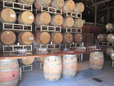Wine tasting bar in barrel room / we will open the barn doors and then have all their varietals on display, guests can sample small pours of everything / staff person there to talk about wines / cool cheese spread set out in this room (cooler spot for those)