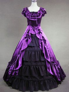 Vintage Costume Dress Women's Victorian Purple Satin Ruffle Retro Maxi Dress Dresses, Costumes, Jewelry & More. Save on the Hottest Fashion Today! 50,000 Products. Fast Shipping. New Styles Added Daily. # #Costumes