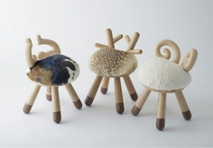 Bambi, Cow and Sheep chairs designed by Kamina & C - Tokyo