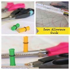 Seam Allowance Guide | A Spoonful of Sugar