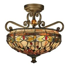 Dragonfly Tiffany Semi Flush Ceiling Light by Home Supplies, http://www.amazon.co.uk/dp/B00AL0EEBA/ref=cm_sw_r_pi_dp_SV67rb0WP6FP3