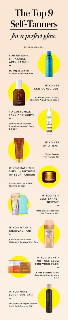 The 9 Best Self Tanners of 2017, no matter what you're looking for in a sunless tanning product. From drugstore picks, no-smell formulas, and fail-proof sprays, we've found the best of the bunch. Click through to shop! | www.stylecaster.com/best-self-tanners-2017 | @stylecaster | StyleCaster