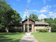 """""""The Story of the #Yawgoog Trails"""" on Foursquare!  Offers images and venue lists for the trails, including the Narragansett Trail.  Image of the Bucklin Memorial Building by David R. Brierley."""