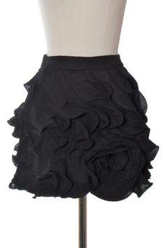MM Couture black rosebud skirt