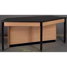 Stevens ID Systems Science Workstation Color: Black, Frame Finish: Walnut, Surface Type: Epoxy