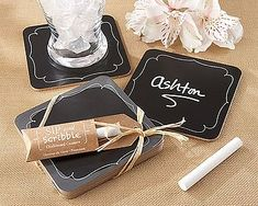 Set Of Four Chalkboard Coasters
