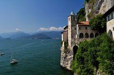 Lake Maggiore - Eremo di Santa Caterina del Sasso Ballaro, Leggiuno, Lombardy, Italy
