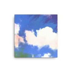 Painted Clouds Canvas