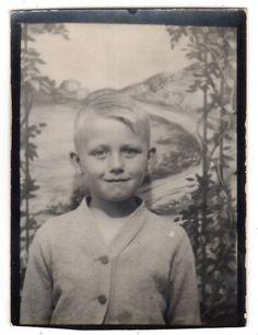 Cute Blonde Boy in Sweater Photobooth Old Vintage Photo Snapshot G5128   eBay
