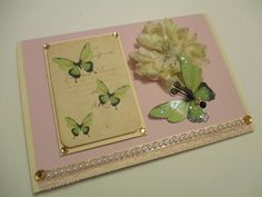 Shabby Chic Card  All Occasion Greeting Card  by Paper4Memories