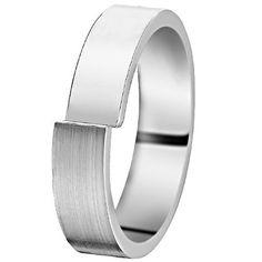 L'alliance DECAL est une alliance ruban en or blanc décalé, à moitié poli, à moitié brossé. Une versionn avec diamants de DECAL est disponible sous le nom de VALENTINA. [639,00€]