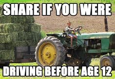 You learned to drive a tractor before you could LEGALLY drive a car. 20 Signs You Are From The Country Country Girl Life, Country Girl Quotes, Country Farm, Country Boys, Country Living, Farm Quotes, Cowboy Quotes, Cowgirl Quote, Jorge Martin