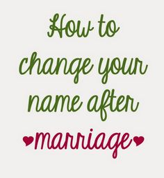 Potions & Poppy Seeds: How to Change Your Name After Marriage