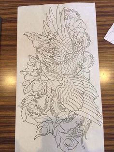 You are not tattooed, – Phoenix tattoo Japanese Pheonix Tattoo, Japanese Tattoo Art, Japanese Tattoo Designs, Japanese Sleeve Tattoos, Japanese Art, Japanese Phoenix, Small Phoenix Tattoos, Phoenix Tattoo Design, Tattoo Sketches