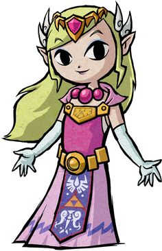 Princess Zelda design from The Wind Waker