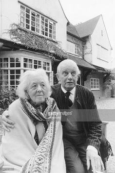 Margaret Rutherford, actress, UK with her husband Stringer Davis - 1971