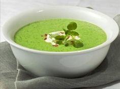 sopa de berros con chícharos