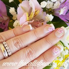 The Call of Beauty: Wedding Details: Romantic Bride Nail Art