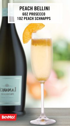 Can't you picture it, friends and family enjoying this Peach Bellini at your summer party?! For us, this refreshing blend of bubbly and Peach Schnapps from BevMo! makes this the perfect cocktail recipe no matter the occasion—one sip and we think you'll agree!