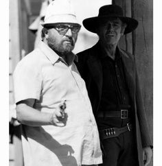Sergio Leone w/ Henry Fonda during a location shoot for Once Upon a Time in the West, 1968.