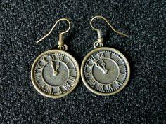 Steampunk Earrings Steampunk Gothic Clock by SteampunkRelics
