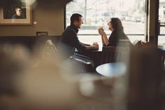 Love the idea of doing part of a couples shoot in a coffee shop!!