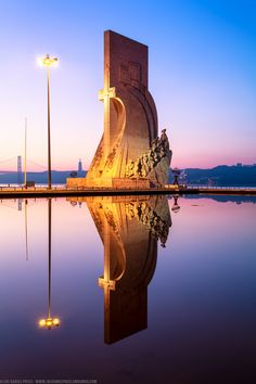 #lisboa#lisbon  Reflection, Padrão dos Descobrimentos, Monument to the Belem, Lisbon, Portugal