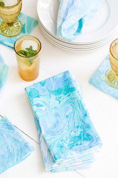 Sugar and Charm: DIY Fabric Marbling