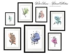 ART PRINT   Water Colour Collection   Art Print Sets   Digital Download or Physical Print   Nature Colour Print   Wall Art   Home Décor Group Art, Decoration, Watercolor Art, Wall Art Prints, Nature, Digital Art, Gallery Wall, Collections, Wall Decor