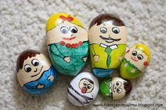 kloceksznurekdeska Painted Rocks, Montessori, Biscuit, Home Decor, Decoration Home, Room Decor, Painted Pebbles, Crackers, Home Interior Design