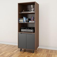 Nexera Alibi Bookcase/Audio Tower   Add Style And Functionality To Your  Entertaining Space With The Nexera Alibi Bookcase/Audio Tower .