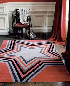 The Rug Company Paul Smith star rug Scandinavian Style, Rug Company, Interior Rugs, Contemporary Area Rugs, Star Rug, Carpet Design, Rugs On Carpet, Red Carpet, Carpets