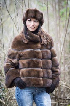 Mink fur jacket- mod. F154