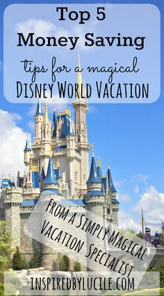 Planning your first (or 50th) Disney vacation can be quite daunting. Here are my Top 5 Money Saving Tips for a Magical Disney World Vacation.